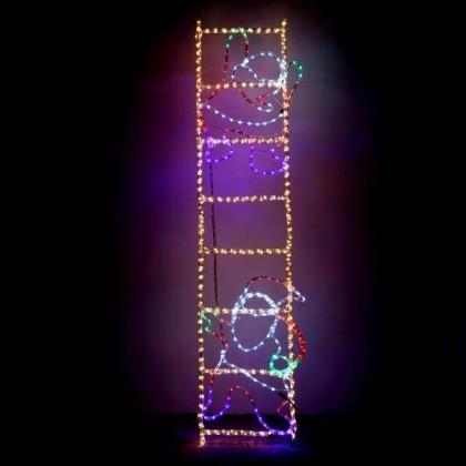 ΑΓΙΟΣ ΒΑΣΙΛΗΣ ΣΕ ΣΚΑΛΑ LED, ΜΕ 23M ΦΩΤOΣΩΛΗΝΑ ΚΑΙ ΠΡΟΓΡΑΜΜΑ, 200X50CM