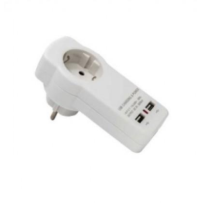 MAKALON ΦΙΣ ΣΟΥΚΟ ΜΕ 2 USB ΘΥΡΕΣ 2.1A