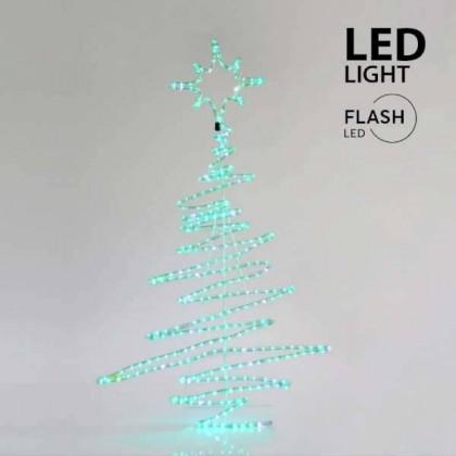ΧΡΙΣΤΟΥΓΕΝΝΙΑΤΙΚΟ ΔΕΝΤΡΟ ΜΕ ΦΩΤΟΣΩΛΗΝΑ  324 LED (120X70εκ)