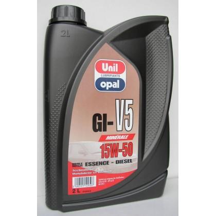 ΛΑΔΙ 1L MOTOR GI-V5 15W/50 UNIL-OPAL
