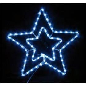 ΑΣΤΕΡΙ ΔΙΠΛΟ ΜΕ ΦΩΤΟΣΩΛΗΝΑ LED & ΠΡΟΓΡΑΜΜΑ (55X56 CM) ΣΕ 2 ΧΡΩΜΑΤΑ